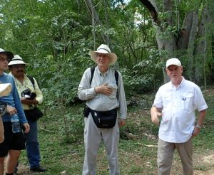 Dr. Brenner (center) among colleagues at a conservation organization in Mexico.