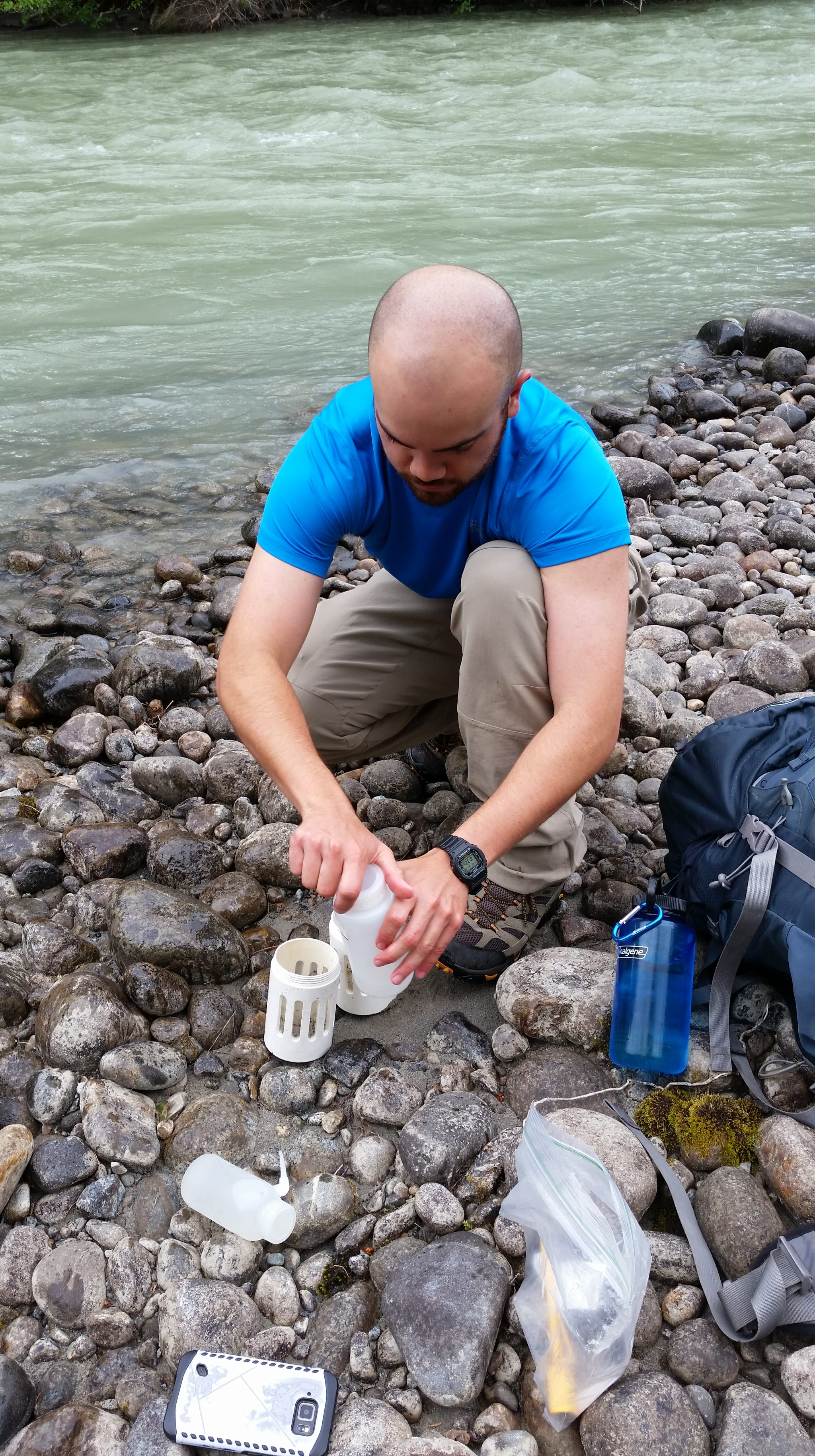Eulachon Larval Sampling along the Nourse River.