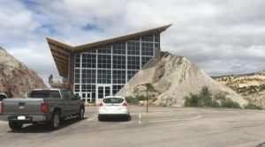 A view of the outside of the Quarry Exhibit Hall at Dinosaur National Monument. Lots of bones and information inside!