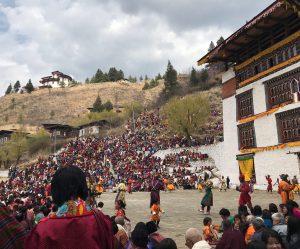 Paro Tsechu, an annual festival in Paro, Bhutan.