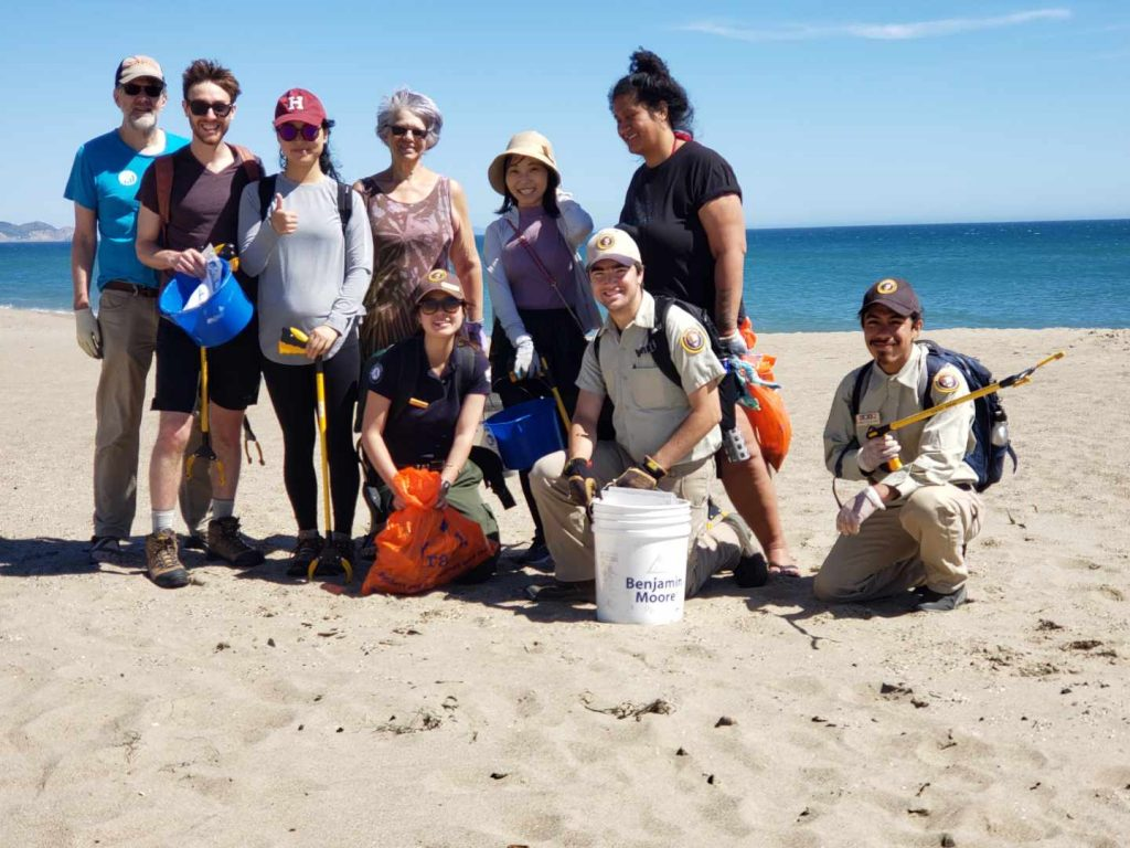 World Ocean's Day Limantour Beach clean-up