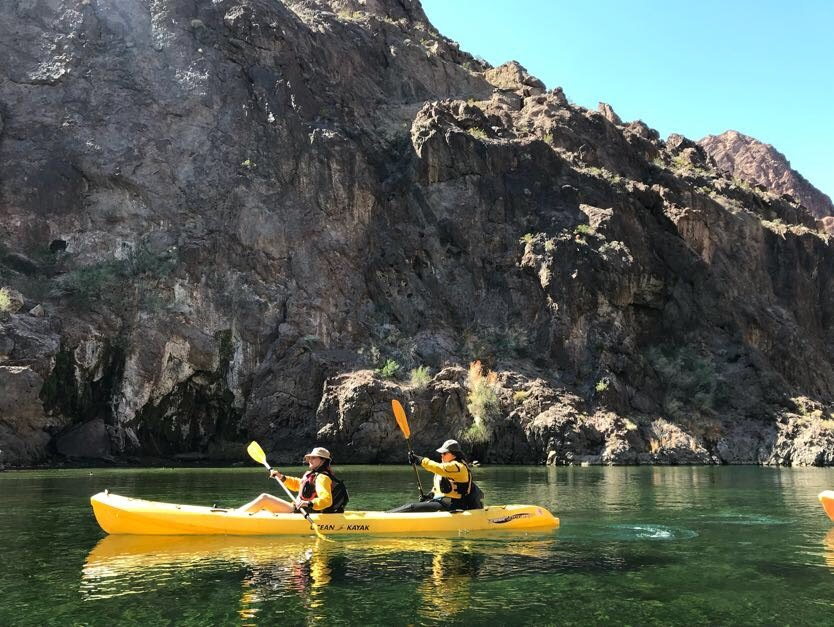 Kayaking in Nevada and Arizona