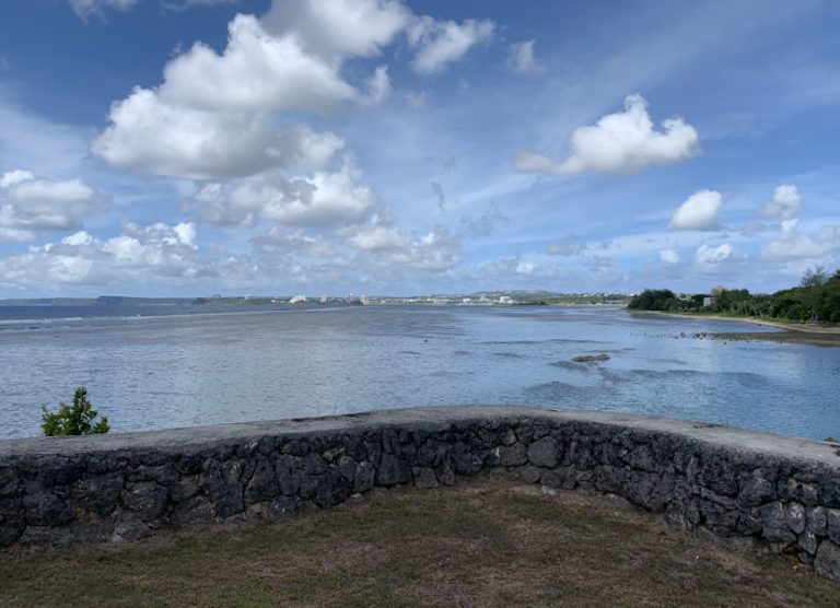 Here is another picture I took at the governor's complex. The complex is located on a mini peninsula which looks towards the northern, southern and out towards the Philippine Sea. This view is looking towards the northern part of the island.