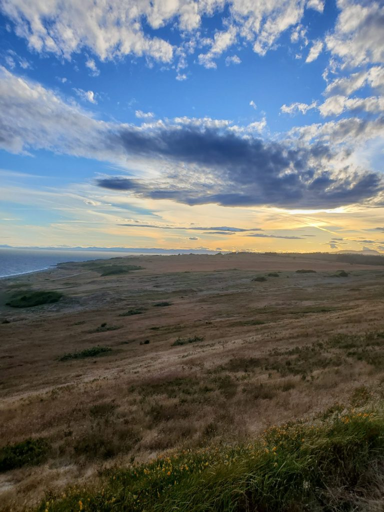 Dramatic overlook of the Dunes and prairie systems from a viewpoint along Cattle Point road.