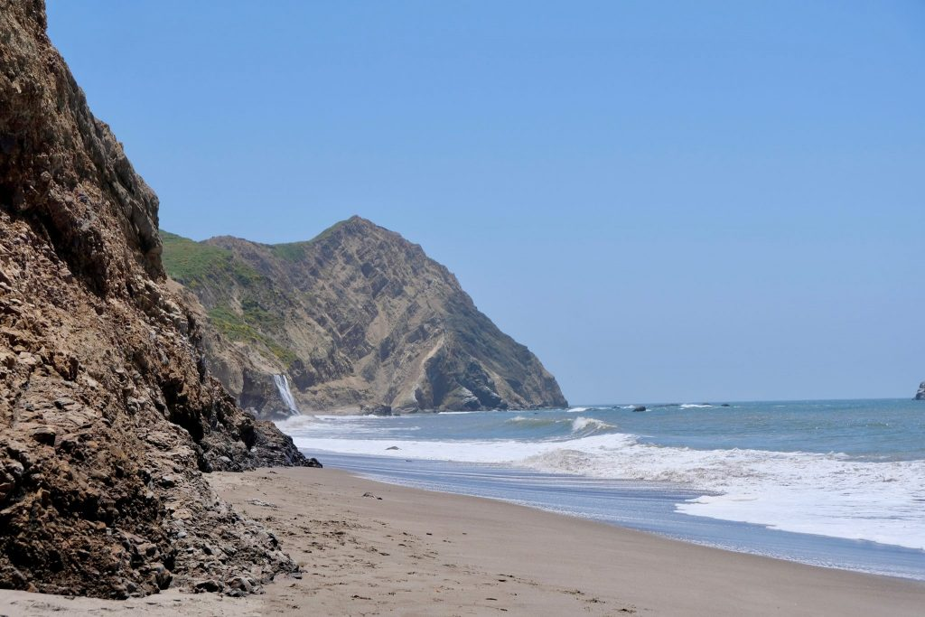 Alamere Falls from Wildcat Beach during a 16 mile hike with Kevin García López (Photo by Diego Morales).