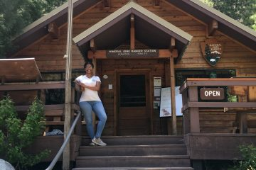 Standing in front of the ranger station in Mineral King, California