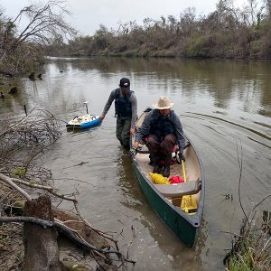 Collecting geometry and flow measurements of the Brazos River using an Acoustic Doppler Current Profiler