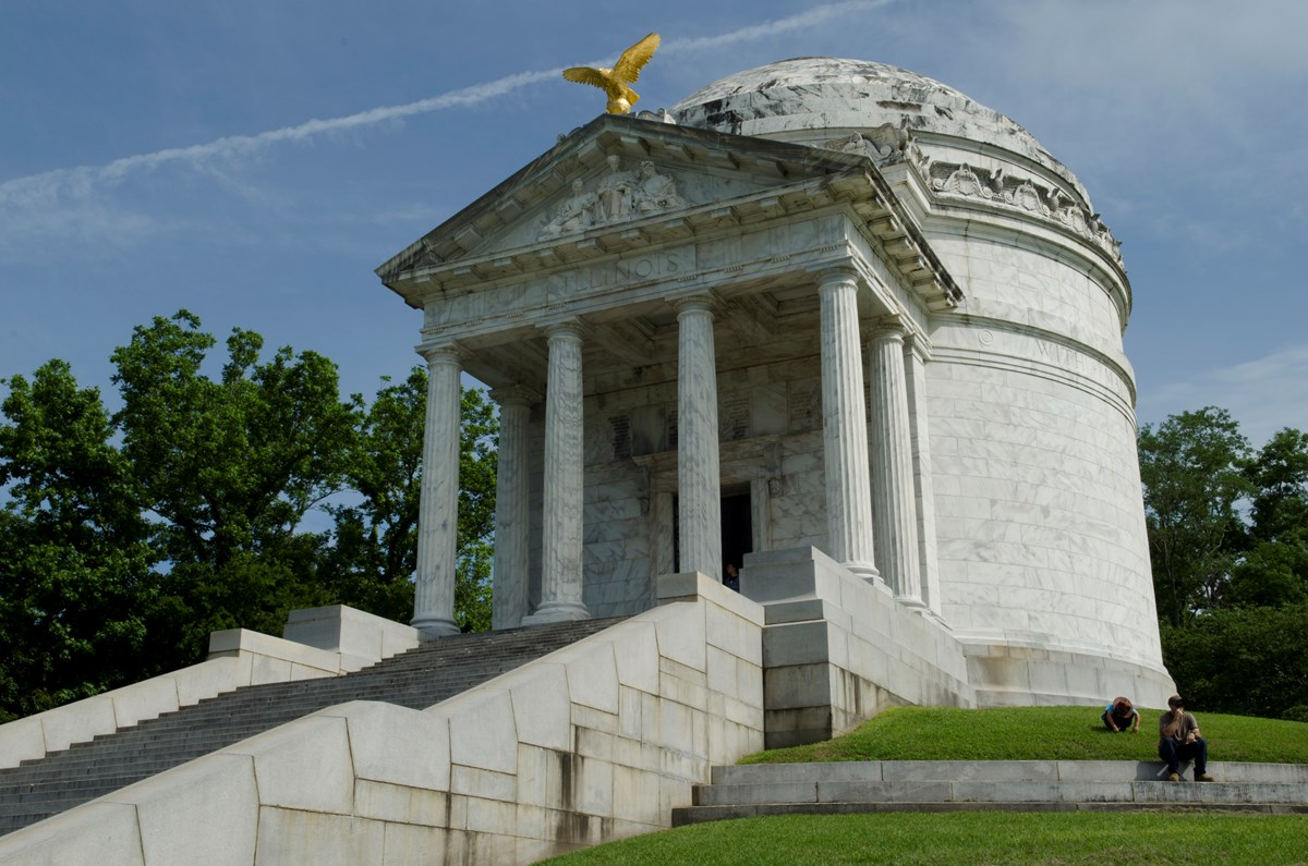 Illinois memorial located in Vicksburg National Military Park